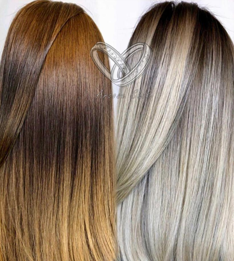 نمونه رنگ درجه روشن و نمونه رنگ درجه تیره