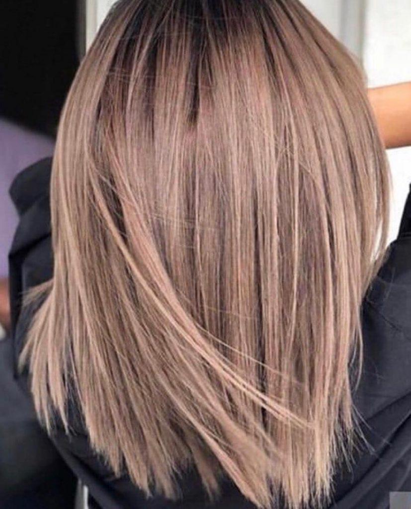 نمونه کار رنگ مو بهترین آرایشگاه در کرج برای رنگ مو