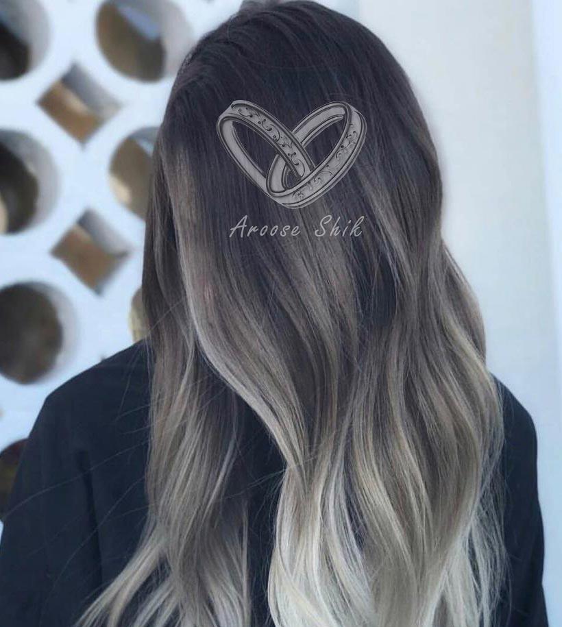 نمونه کار رنگ مو در عروس شیک