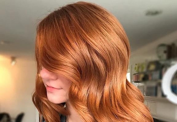 رنگ موی مسی روشن