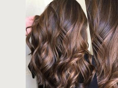 هایلایت موها با رنگ گرم