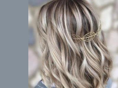 هایلایت مو با رنگ روشن