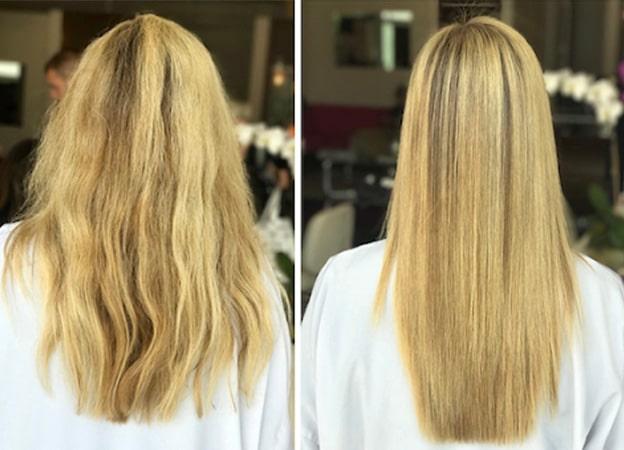 کراتینه مو قبل و بعد